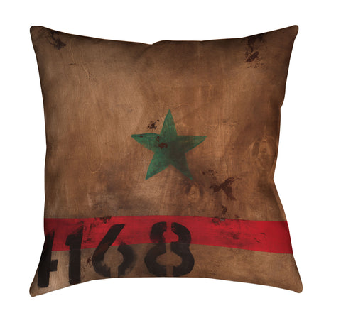 """STAR 4168"" Outdoor Throw Pillow"