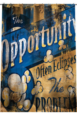 """Opportunity"" Shower Curtain"