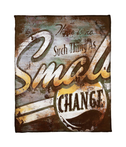 """Small Change"" Fleece Throw"