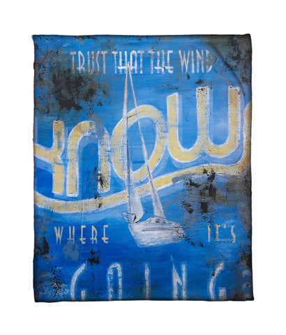 """Wind Knows"" Fleece Throw"