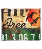 """Feel Free"" Fleece Throw"