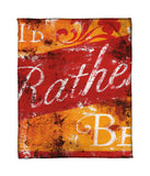 """I'd Rather Be"" Fleece Throw"