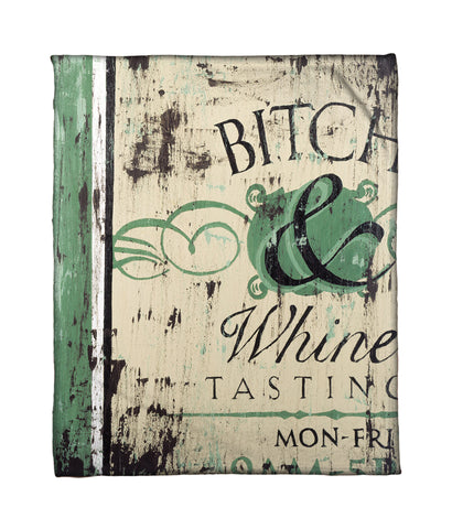"""Bitch & Whine"" Fleece Throw"