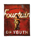 """Fountain Of Youth"" Fleece Throw"