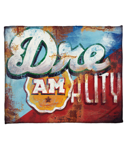 """Wake Up"" Fleece Throw"