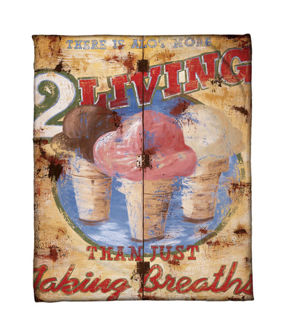 """Taking Breaths"" Fleece Throw"