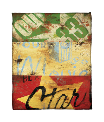 """Hollywood For The Common Folk"" Fleece Throw"