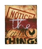 """Notice The Little Things"" Fleece Throw"