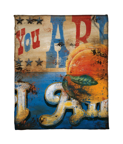 """The Heart,The Truth And The Tongue That Speaks It"" Fleece Throw"