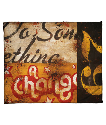 """For A Change"" Fleece Throw"