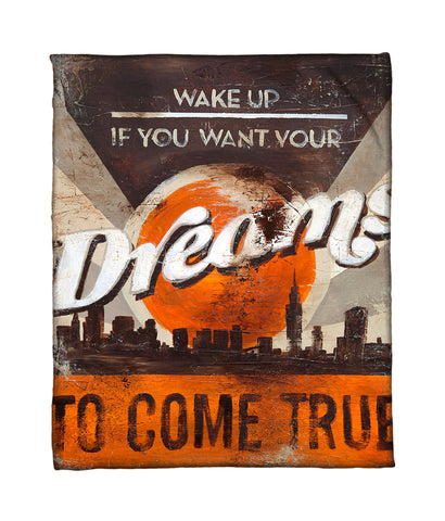 """Dreams To Come"" Fleece Throw"