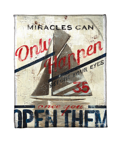 """Miracles"" Fleece Throw"