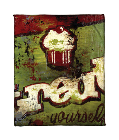 """You Deserve It"" Fleece Throw"