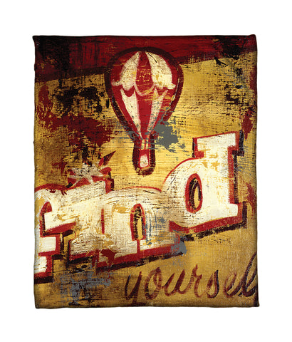 """You Awaits You"" Fleece Throw"