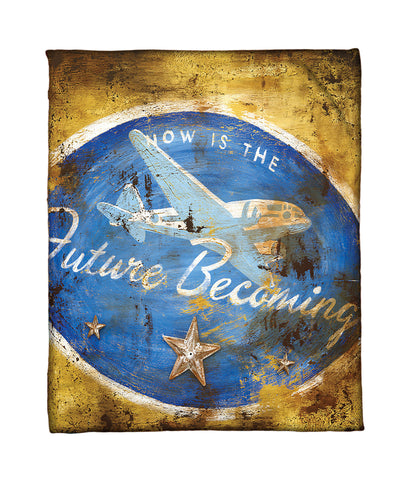 """Future Becoming"" Fleece Throw"