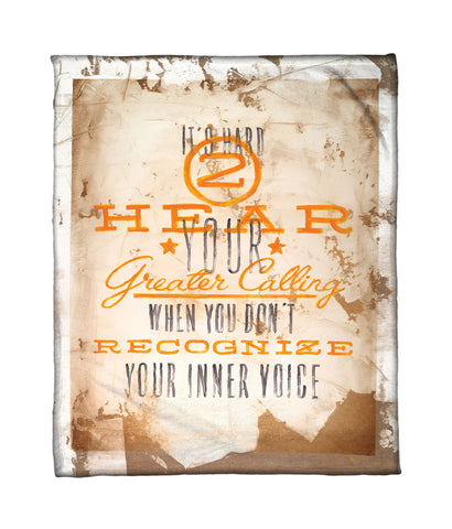 """Listen Closely"" Fleece Throw"