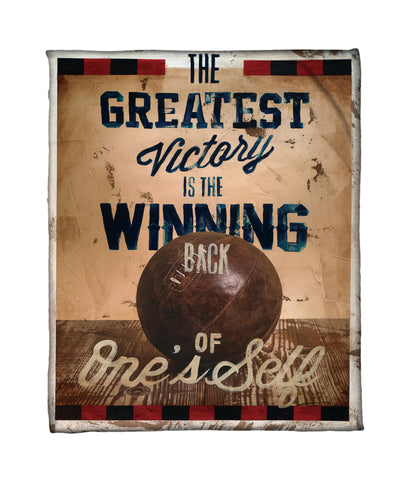 """World Champion"" Fleece Throw"