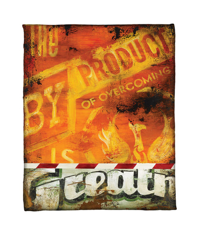 """Battle Tested"" Fleece Throw"