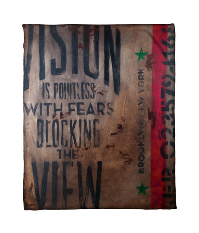 """A Terrible View"" Fleece Throw"