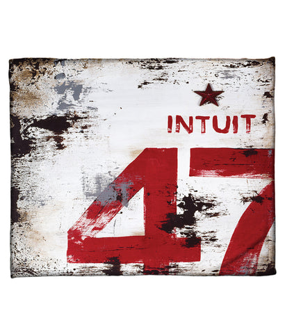 """Skillset Of An Elevated Mind: Intuit"" Fleece Throw"