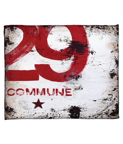 """Skillset Of An Elevated Mind: Commune"" Fleece Throw"
