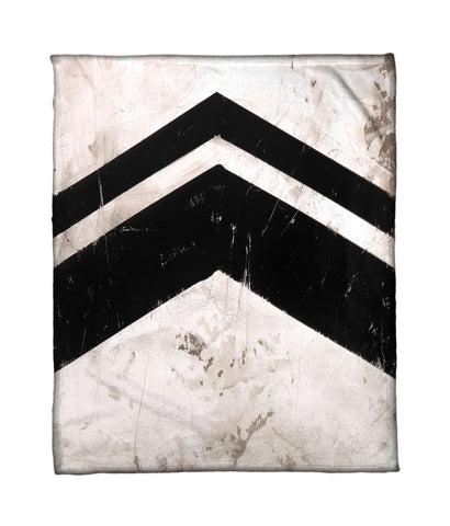 """Chevron 1"" Fleece Throw"