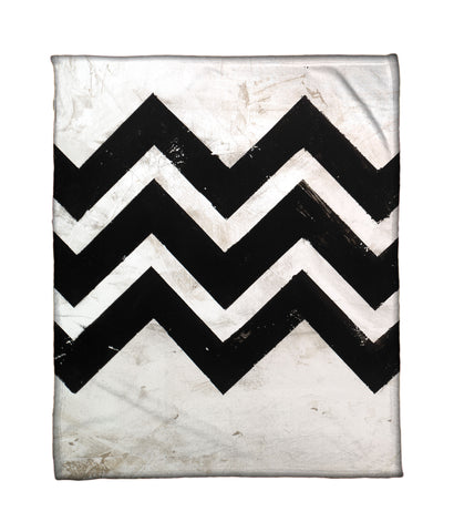 """Chevron 2"" Fleece Throw"