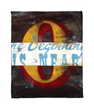 """0: The Beginning Is Near"" Fleece Throw"