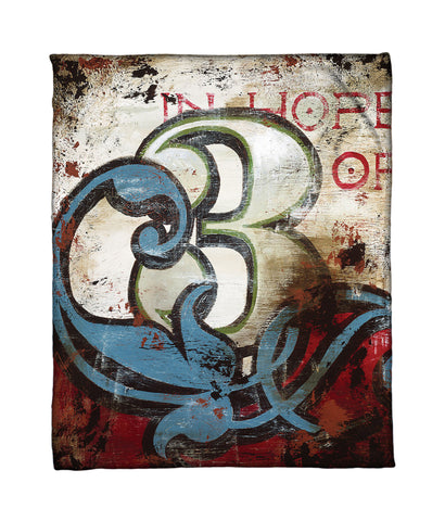 """3: In Hope Of"" Fleece Throw"