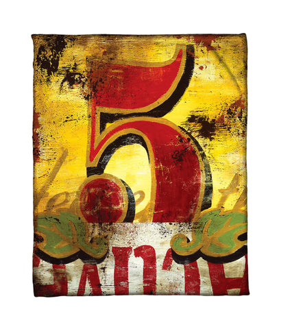 """5: Hence Forth"" Fleece Throw"