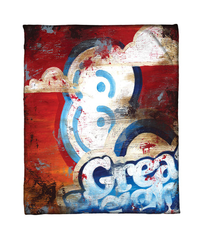 """8: Great Heights"" Fleece Throw"