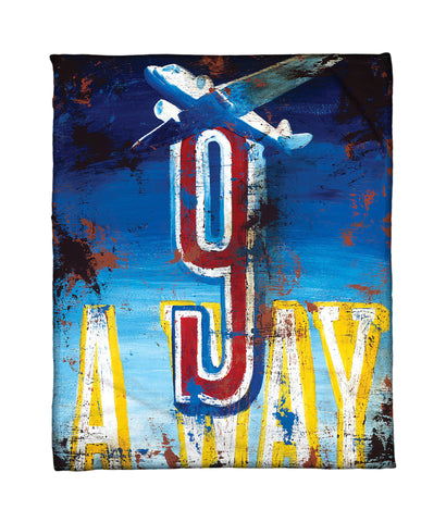 """9: Away"" Fleece Throw"