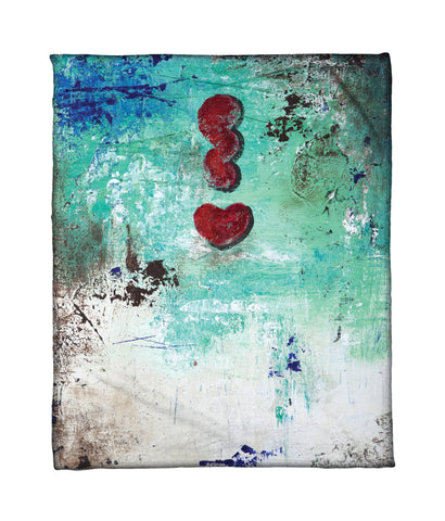"""Love Cloud: Get Excited"" Fleece Throw"