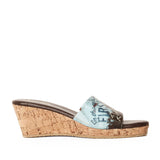 """Wendy"" Cork Wedge Slide"