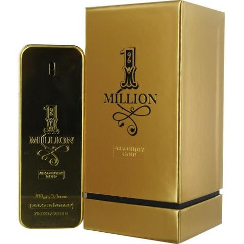 Paco Rabanne 1 Million Absolutely Gold By Paco Rabanne Pure Parfum Spray 3.3 Oz