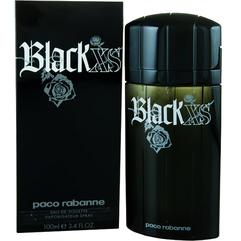 Black Xs By Paco Rabanne For Men Eau De Toilette Spray 3.4-Ounce Bottle
