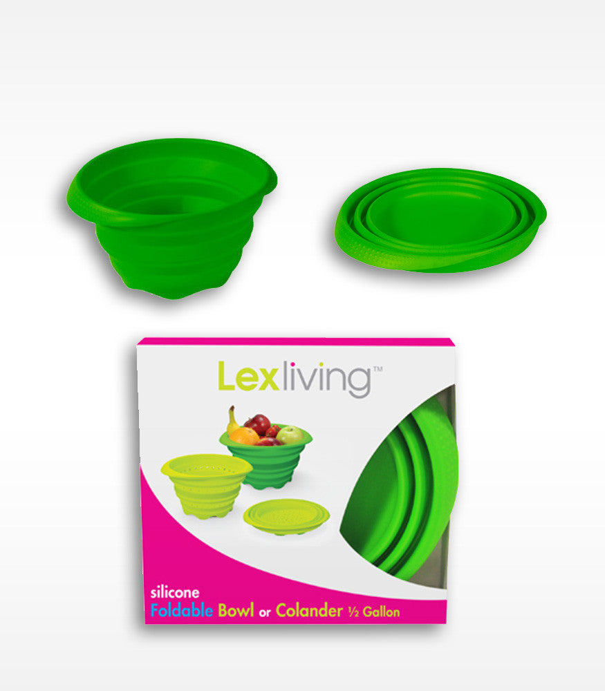 LexLiving 1/2 Gallon Silicone Foldable Bowl LexLiving 1/2 Gallon / Green Kitchen & Dining GOiNNOVA.com Unique Innovative Products GOiNNOVA Online Shopping Free Shipping Trendy Products