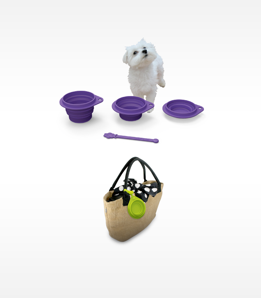 LexLiving Pets Silicone 2 Fold Pet Travel Bowl LexLiving  Pet GOiNNOVA.com Unique Innovative Products GOiNNOVA Online Shopping Free Shipping Trendy Products - 1