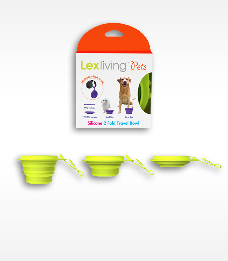 LexLiving Pets Silicone 2 Fold Pet Travel Bowl LexLiving  Pet GOiNNOVA.com Unique Innovative Products GOiNNOVA Online Shopping Free Shipping Trendy Products - 2
