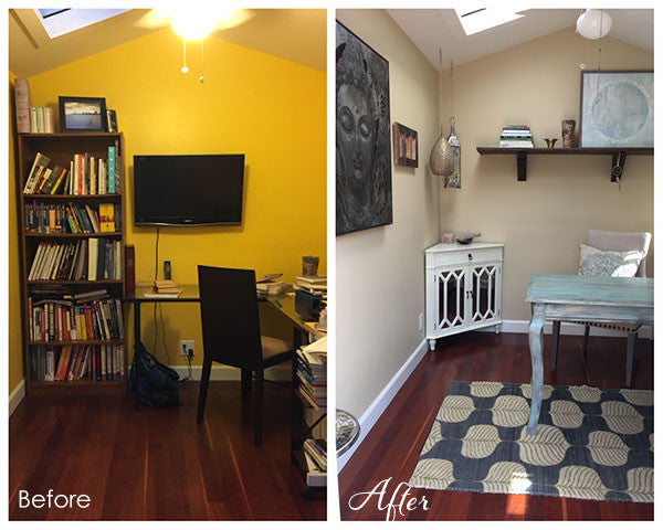 Before and after home styling by Lori