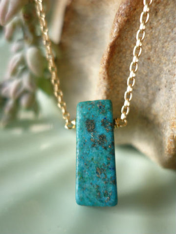 Serene Chrysocolla Necklace