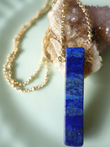 Blissful Lapis Necklace