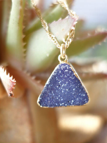 Deep Sea Druzy Necklace