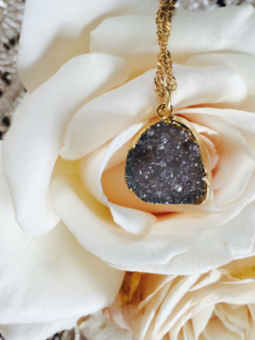 Cloudy Day Druzy Necklace