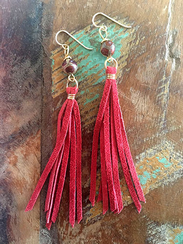 Sweet Sunset Tassel Earrings