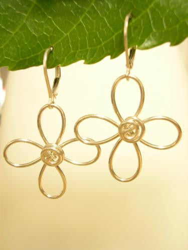 Petals - curly sterling wire dangles