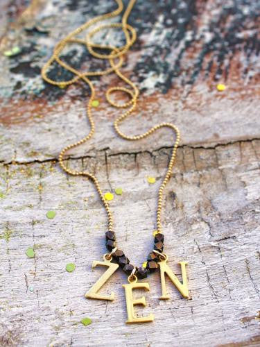 "Spell ""Zen"" Necklace"