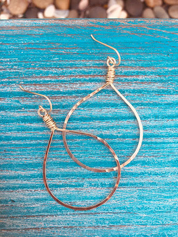 Gold Messy Wrap Hoops