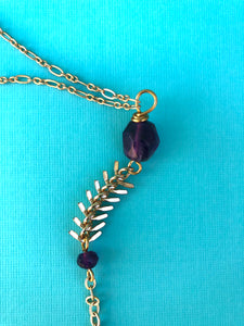 Purple Power Necklace