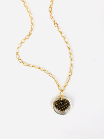 Heavy Metal Heart Necklace